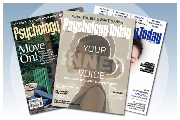 picture of covers from Psychology Today magazine