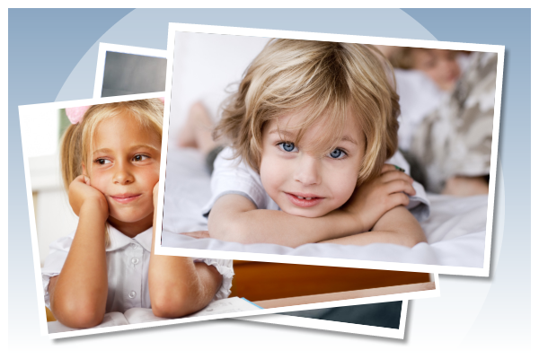 stacking photos of kids for child resources banner image